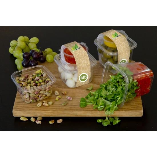 """Контейнер для салата, десертов """"Кубик Лондон"""" прозрачный РЕТ, 93*93*92мм, 400мл"""