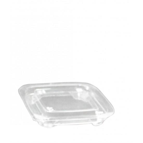 """Крышка для контейнера  """"Кубик Лондон"""" прозрачная РЕТ, 93*93*15мм"""