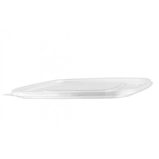 Крышка плоская PET к контейнеру | Прозрачная 190*190*16,2мм
