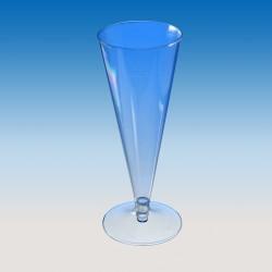 "Бокал для шампанского ""Конус"" (на низкой ножке) 100мл, Ǿ=60мм, h=160мм."
