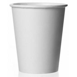 Стакан бумажный 1РЕ одностенный белый 185мл (7oz) Ǿ=70мм, h=80мм