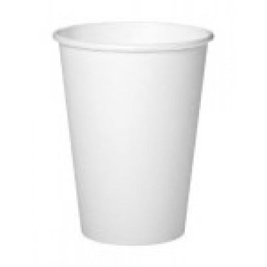 Стакан бумажный 1РЕ одностенный белый 340мл (12oz) Ø=80мм, h=110мм