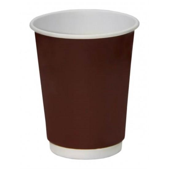 Стакан бумажный двустенный (double wall) коричневый 250мл Ǿ=80мм, h=92мм
