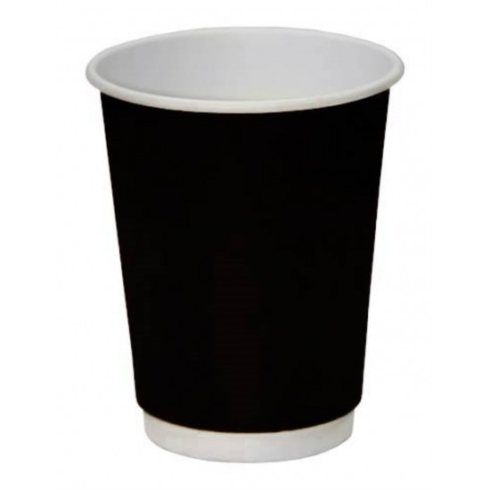 Стакан бумажный двустенный (double wall) черный 450мл Ǿ=90мм, h=135мм