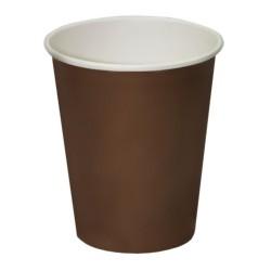 Стакан бумажный 1РЕ одностенный коричневый 110мл (4oz) Ǿ=64мм, h=64мм