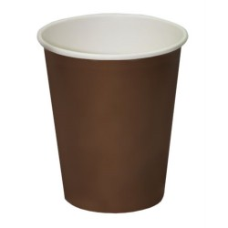 Стакан бумажный 1РЕ одностенный коричневый 185мл (7oz) Ǿ=70мм, h=80мм