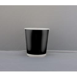 Стакан бумажный двустенный (double wall) черный 180мл Ǿ=71мм, h=52мм