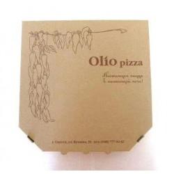 Коробка для пиццы из гофрокартона бурая 300*300*30мм