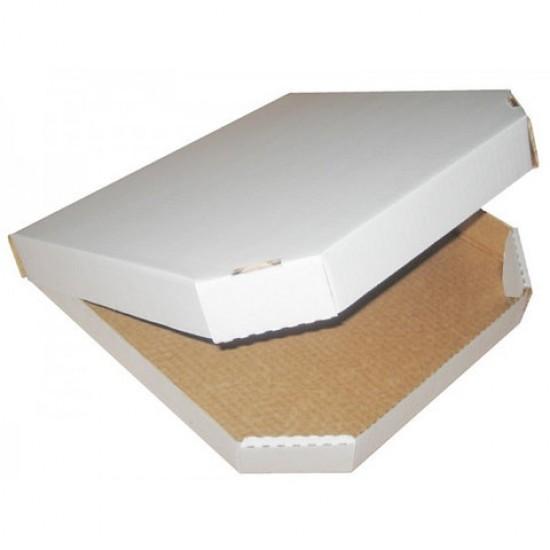 Коробка для пиццы из гофрокартона белая 320*320*40мм