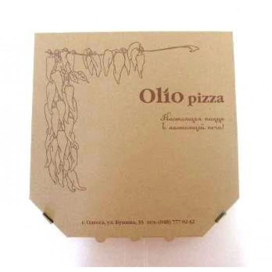 Коробка для пиццы из гофрокартона | Бурый 350*350*40мм