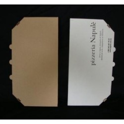 Коробка для половинки пиццы из гофрокартона белая 160*320*30мм