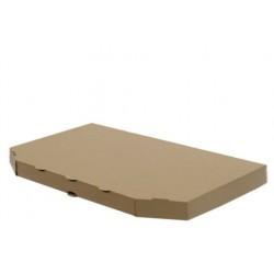 Коробка для половинки пиццы из гофрокартона бурая 160*320*30мм