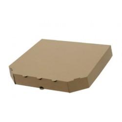 Коробка для пирогов из гофрокартона бурая 270*270*60мм