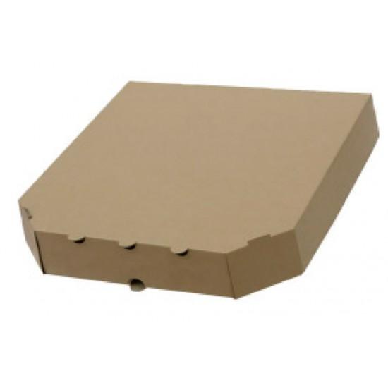 Коробка для пирогов из гофрокартона | Бурый 310*300*65мм