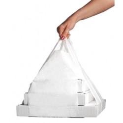 Пакет XL прозрачный полиэтиленовый для коробок под пиццу размерами от 430*430мм до 500*500мм