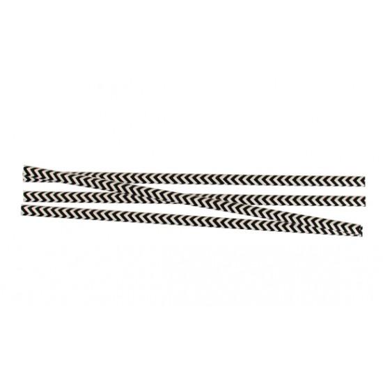 Трубочка (соломинка) бумажная (Ёлка) Ø=6мм d=195мм   Черно-белая