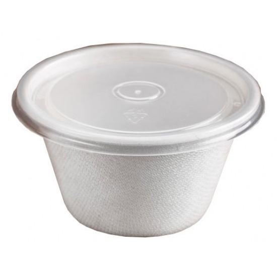Контейнер круглый для супа из сахарного тростника 350мл Ǿ=116мм, h=63мм