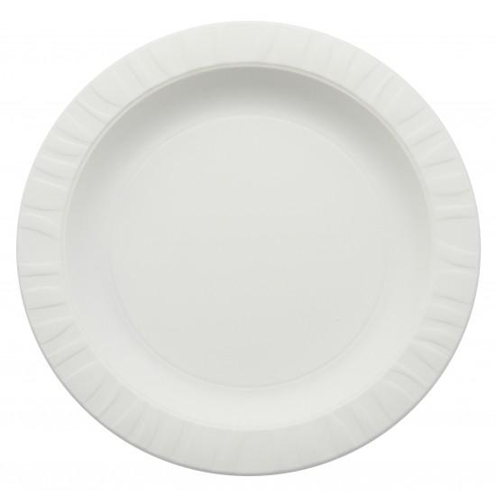 Тарелка из кукурузного крахмала Ø=230мм | Белая