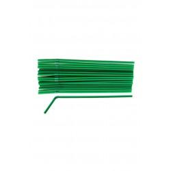 Трубочка BIO (кукурузный крахмал)  с коленом, темно-зеленая, Ǿ=6мм, d=260мм, (150шт/уп)